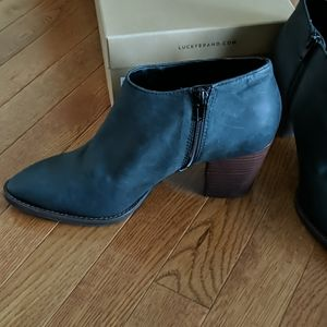 New in box Lucky Brand black booties